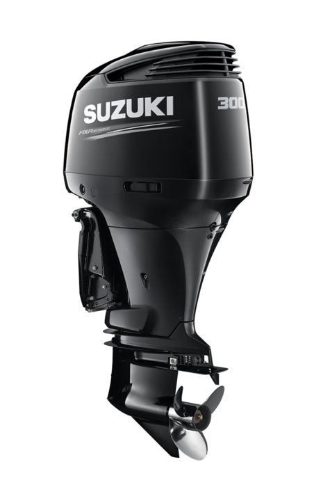 Suzuki Marine Outboard DF300AP angled view from Winsor Marine